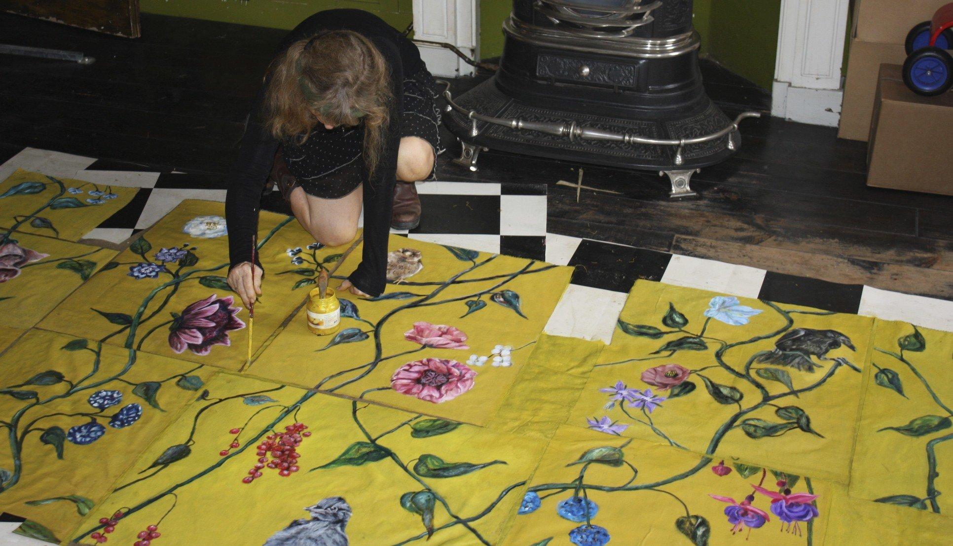 Behang schilderen ala Frans Hals museum