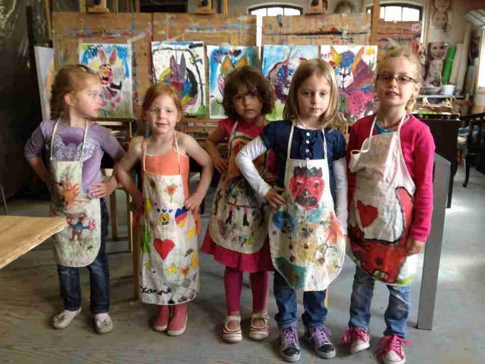 kinderpartij Lovis schilderles atelier #Haarlem
