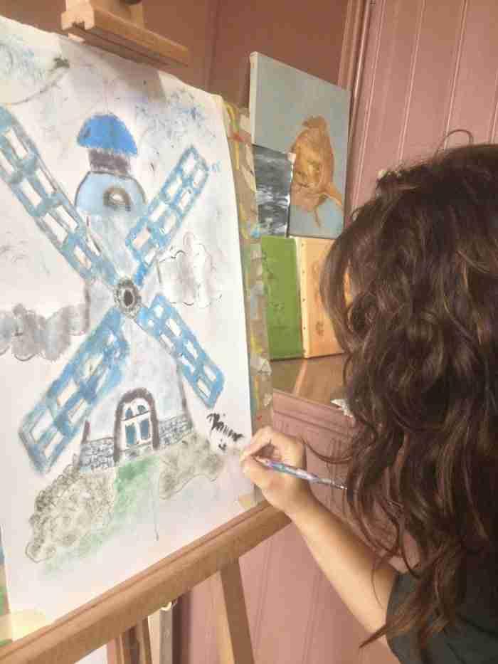 workshop schilderles atelier #Haarlem