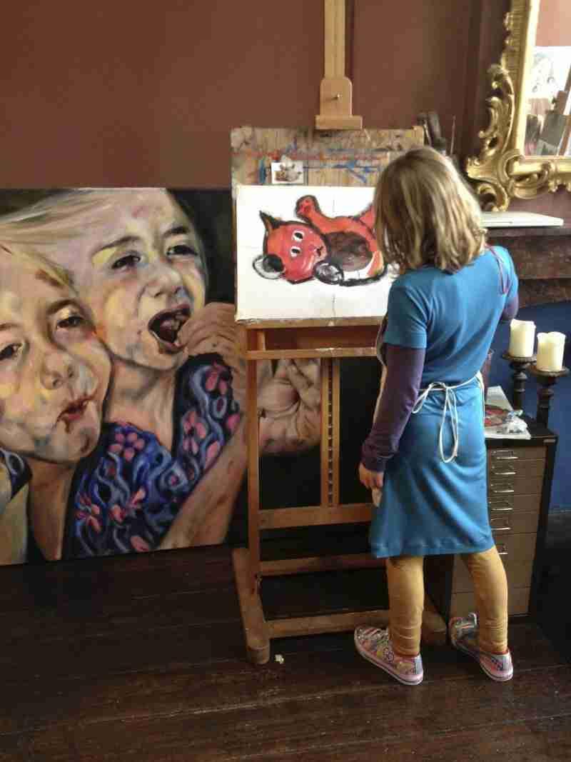 kinderpartij Sara schilderles atelier #Haarlem