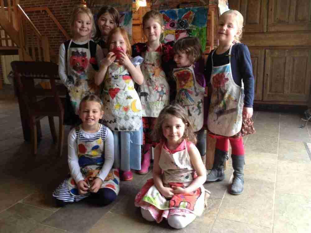 kinderpartij Lovis, schilderles atelier #Haarlem