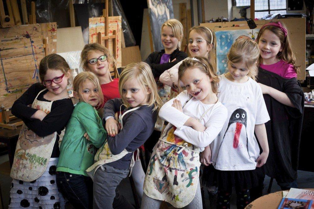 Kinderpartij schilderles bij atelier #Haarle