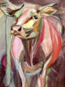 Kijk een Koe olieverf schilderij, afb. 5