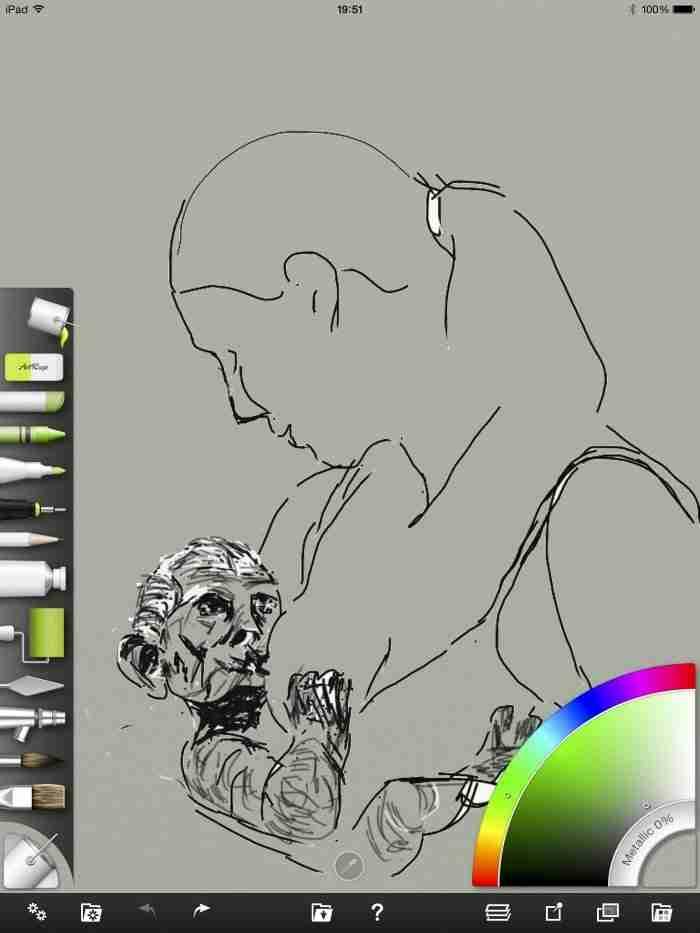 Lust voor het oog, iPad tekening vrouw