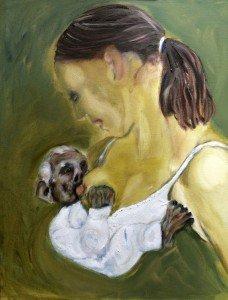 Olieverf schilderij, Lust voor het oog, rechterpaneel