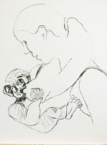 Lust voor het oog, rechter paneel, 5. vrouw tekening