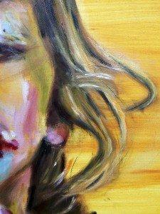 Het meisje met het ijsje, olieverf schilderij 5.