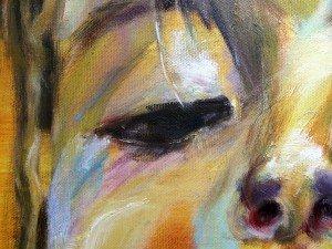 Het meisje met het ijsje, olieverf schilderij 7.