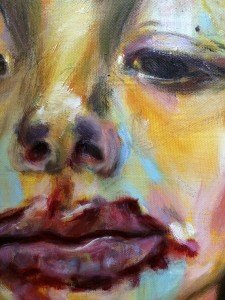 Het meisje met het ijsje, olieverf schilderij 8.