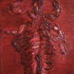 Olieverf schilderij, Fossiel van een Luis