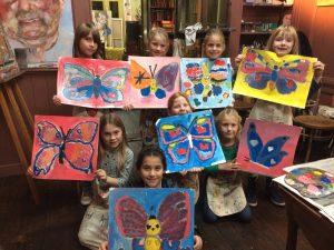 Kinderpartij teken-, en schilderles