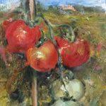 Landschappen. plein-air-mijn- tomaten-geschilderd
