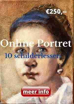 Online Portret schilderlessen, schildercursus Ella Looise
