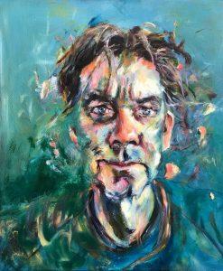 Portret van Koos, olieverf op doek, 50 x 60 cm
