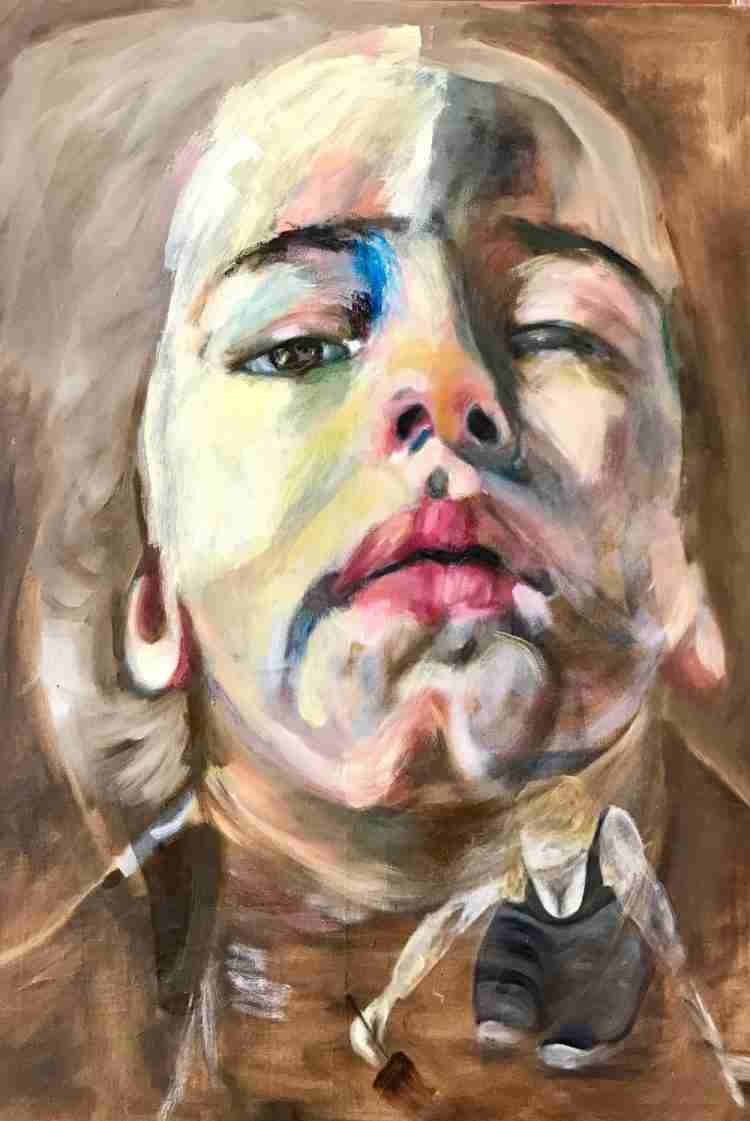 Portret Dide, olieverf schilderij op doek, 125 x 180 cm