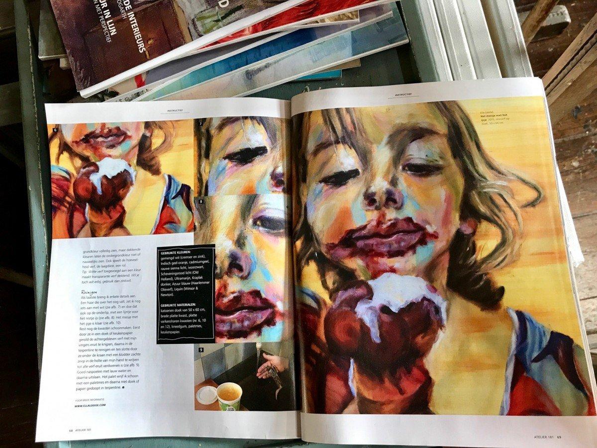 Media. Het meisje met het ijsje, zin Atelier magazine