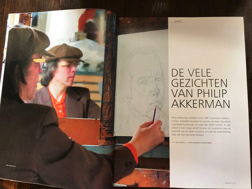 Over mij. Ella Looise . Interview met Philip Akkerman op zijn atelier