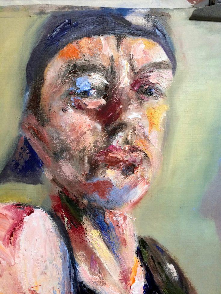 Detail uit De Zaaier (naar Van Gogh) Portretten