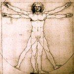 De Mens van Vetruvian door Leonardo Da Vinci