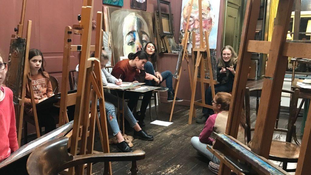 Op mijn schilder atelier