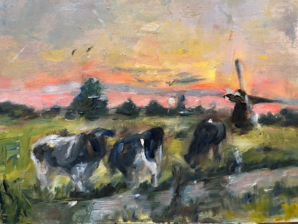 Alla-prima-geschilderd. Landschappen