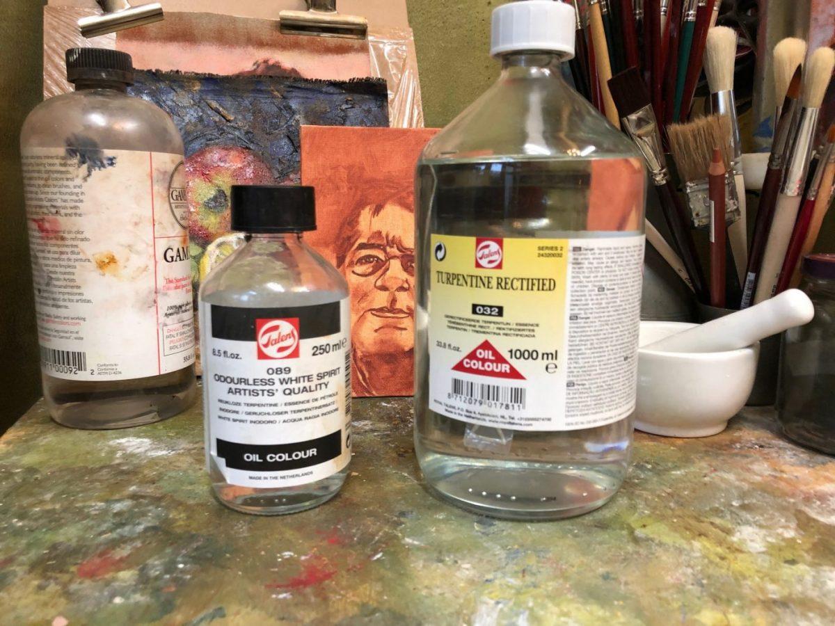 Leren schilderen als de Oude Meesters.. Terpentijn en White Spirit mediums voor olieverf schilderen