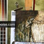 Deel twee van Detail van Lucretia schilderen , een video podcast vanuit het atelier