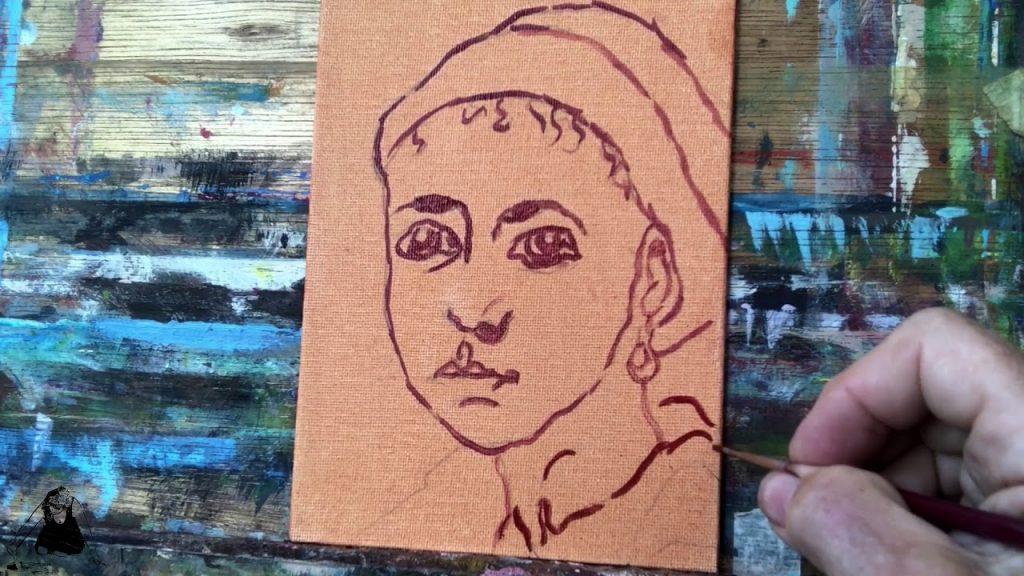 Penseelschets. Online schilderlessen en schildercursussen