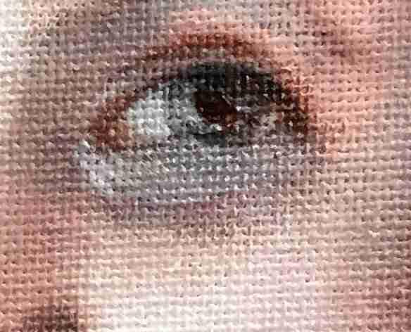 Video schilderlessen. Details schilderen Portret van het Meisje