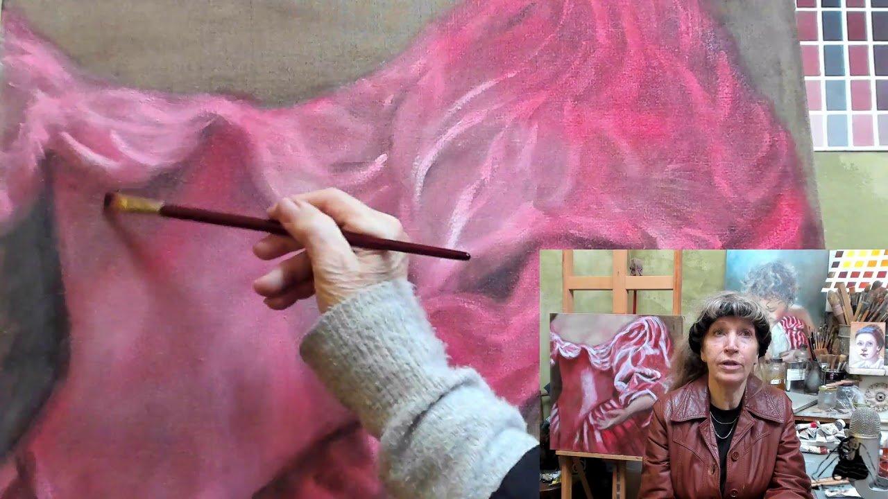 video serie schilderles Witte kleding schilderen als de Oude Meesters