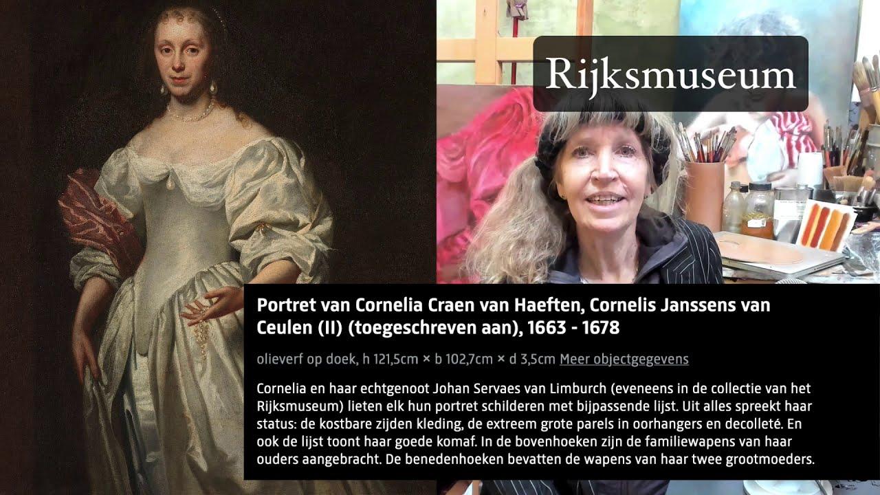Online schilderlessen en online schildercursussen.Video 1 schilderles Witte Kleding schilderen als de Oude Meesters. Leren tekenen en schilderen