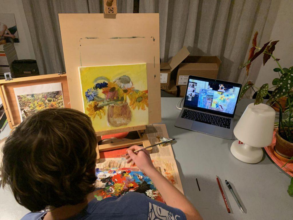 Online schildersessies, online schilderlessen voor iedereen! Beginners, gevorderden, kinderen, tieners en volwassenen. Atelier #Haarlem