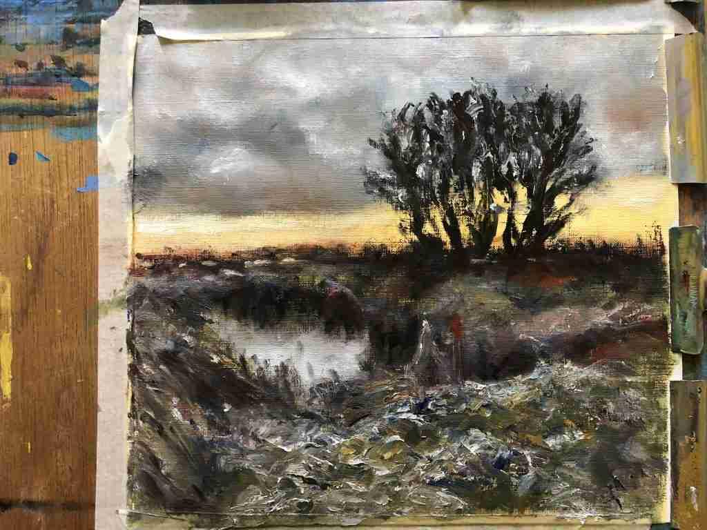 Online schildersessies, schilderles alla prima landschap schilderen
