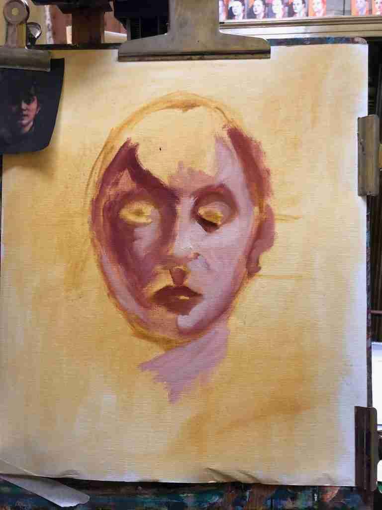 Ella Looise Atelier Online, Hoe portret leren schilderen, online schilderles