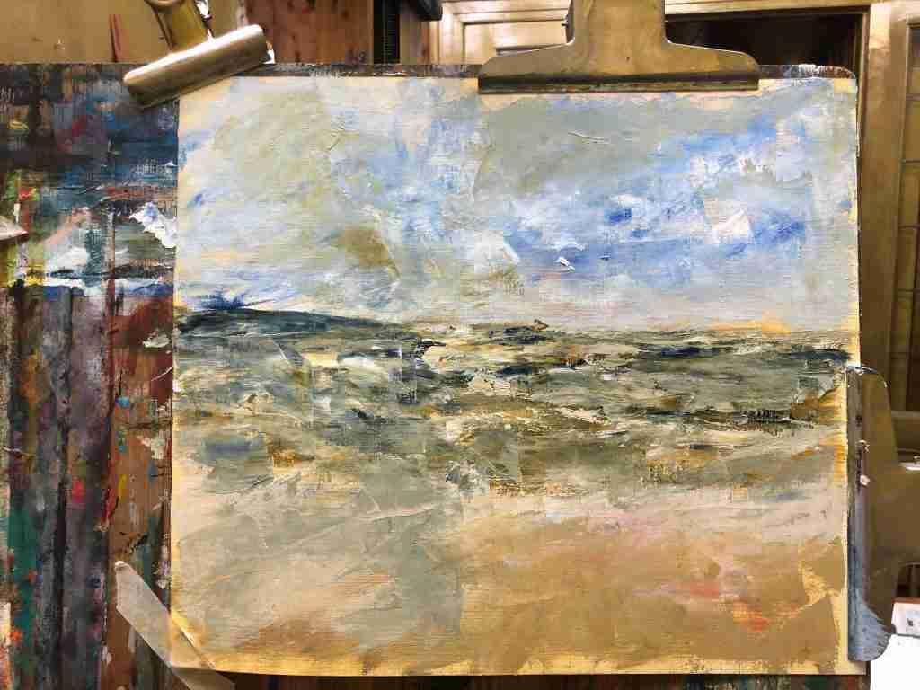 Hoe zee schilderen met paletmes, online schilderles