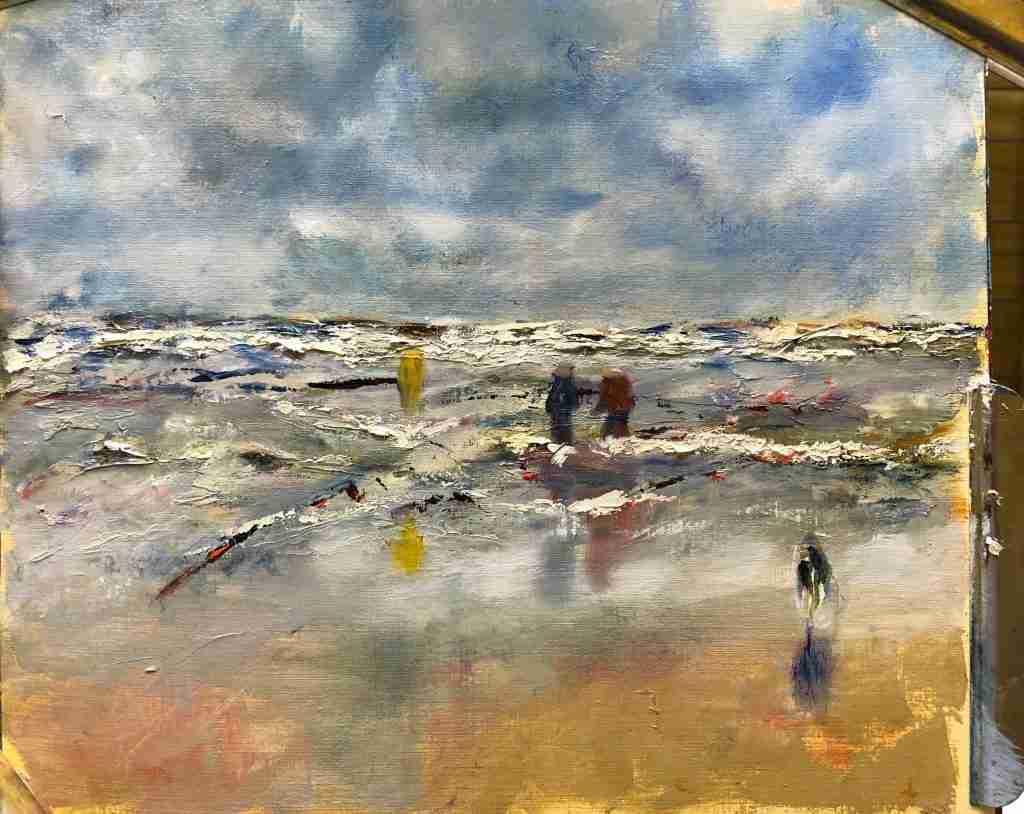 Zee schilderen, online schilderles