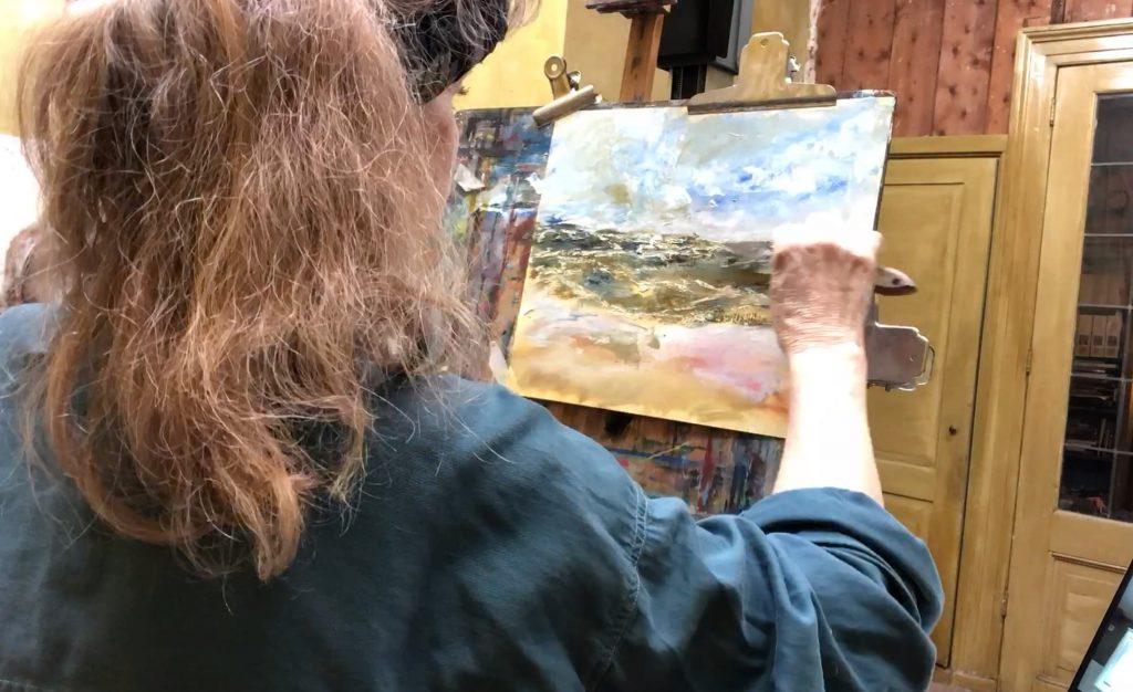 De zee schilderen, online schilderles