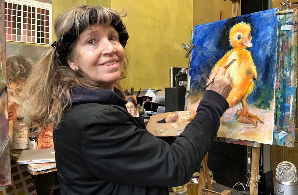 online leren tekenen en schilderen. Schilderlessen. Atelier #Haarlem. Oude Meesters schildertechnieken. Foto van Ella Looise online schilderles Hoe een pulletje schilderen
